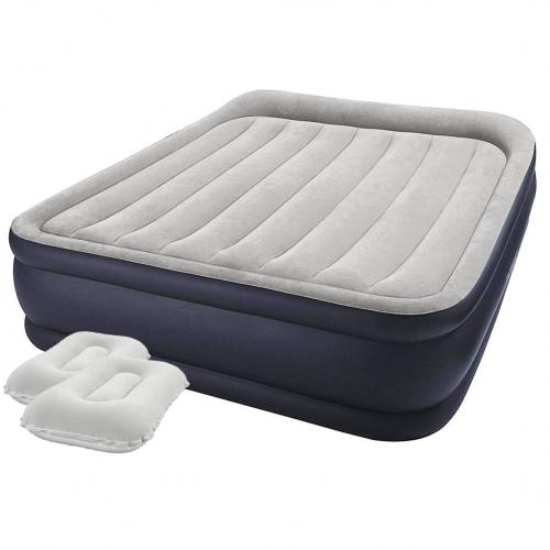 Надувная кровать Intex 64136-2, 152 х 203 х 42 см, встроенный электронасос, подушкаи. Двухспальная