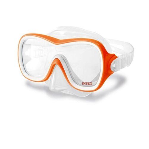 Маска для плавания Intex 55978, размер M, (8+), обхват головы ≈ 50-56 см, оранжевая