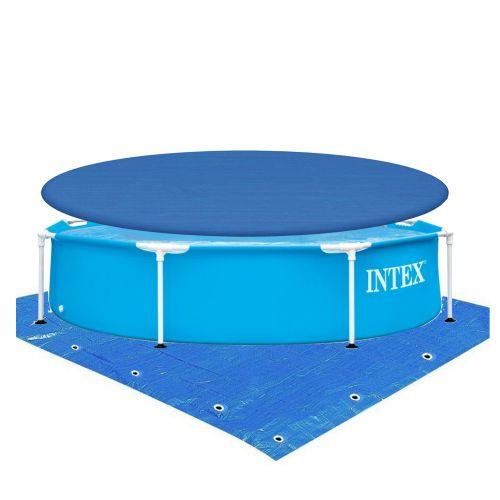 Каркасный бассейн Intex 28205-2, 244 x 51 см (тент, подстилка)