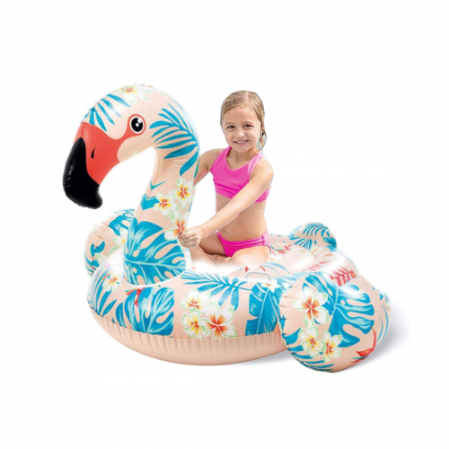 Детский надувной плотик для катания Intex 57559 «Фламинго», 142 х 137 х 97 см