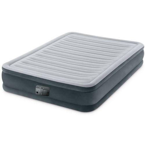 Уценка! Надувная кровать Intex 67768 (Stock), 137 x 191 x 33 см, встроеный электронасос. Полутороспальная