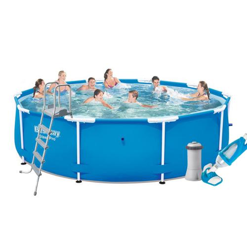 Каркасный бассейн Bestway 5612U - 5, 427 х 132 см (3 785 л/ч, лестница, тент, подстилка, набор для ухода)
