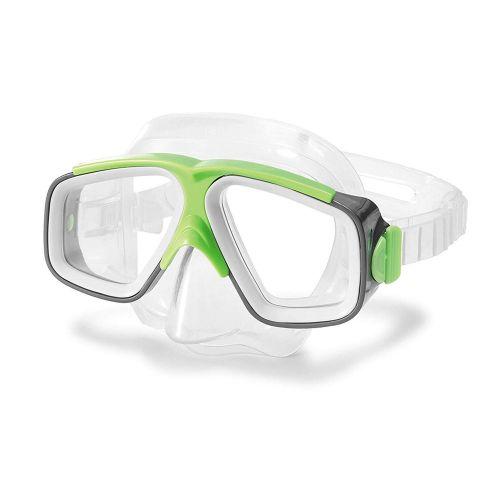Маска для плавания Intex 55975, размер M, (8+), обхват головы ≈ 50-56 см, зеленый