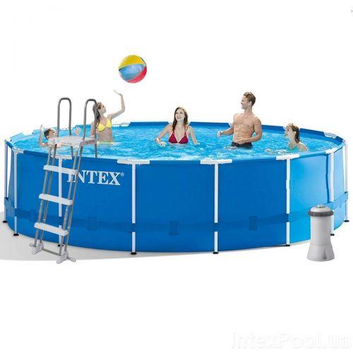 Каркасный бассейн Intex 28242, 457 x 122 см (3 785 л/ч, лестница, тент, подстилка)