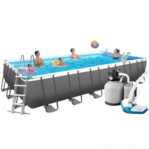 Каркасный бассейн Intex 26368 - 12, 732 х 366 х 132 см (11 г/ч - 10 000 л/ч, лестница, тент, подстилка, набор для ухода, сетка)