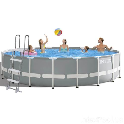 Каркасный бассейн Intex 26732 - 1, 549 x 122 см (лестница, подстилка,тент)