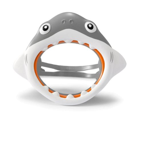 Маска для плавания Intex 55915 «Акула», размер S, (3+), обхват головы ≈ 48-52 см, серый