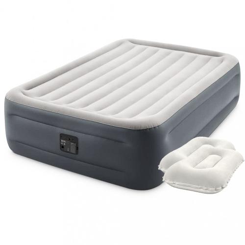 Надувная кровать Intex 64126-2, 152 х 203 х 46 см, встроенный электрический насос, подушки. Двухспальная