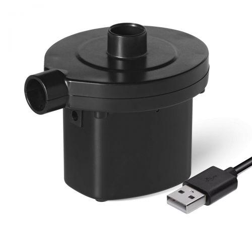 Электрический насос для надувания Bestway 62130, (портативный элетрический USB насос на аккумуляторах)