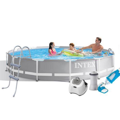 Каркасный бассейн Intex 26710 -7, 366 x 76 см (4 г/ч, 3 785 л/ч, тент, подстилка, лестница, набор для ухода)