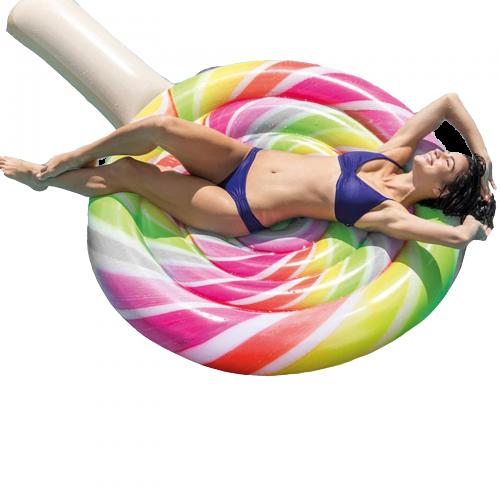Пляжный надувной матрас Intex 58753 «Леденец», серия «Десерт», 208 х 135 см