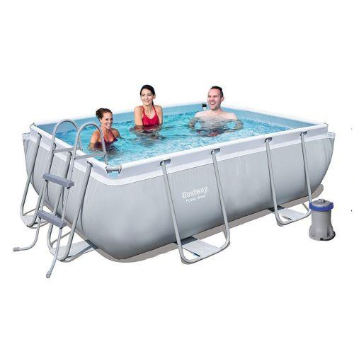 Каркасный бассейн Bestway 56629-5, 282 х 196 х 84 см (2 006 л/ч, тент, подстилка, лестница)