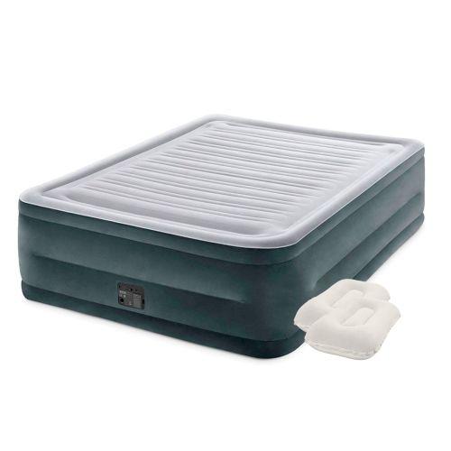 Надувная кровать Intex 64418-2, 152 х 203 х 56 см, встроенный электронасос, подушки. Двухспальная