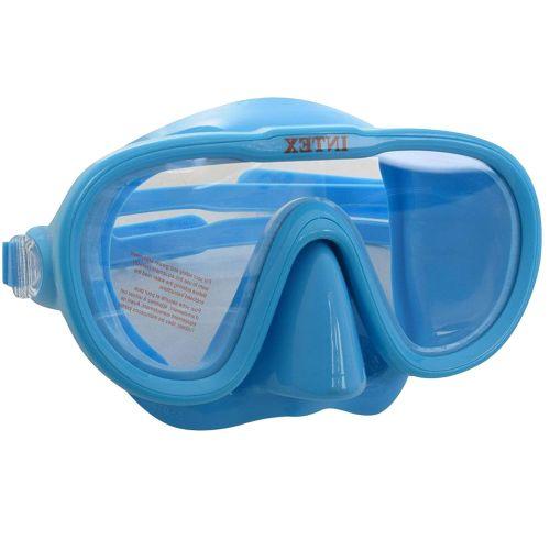 Маска для плавания Intex 55916, размер M (8+), обхват головы ≈ 50-56 см, голубая