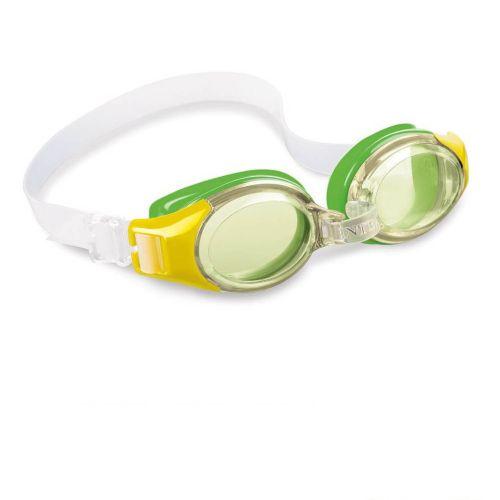 Детские очки для плавания Intex 55601, размер S (3+), обхват головы ≈ 48-52 см, зеленые