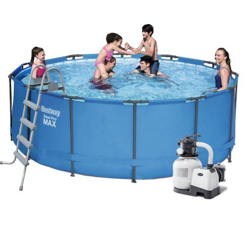 Каркасный бассейн Bestway 5614S - 7, 366 х 122 см (6 000 л/ч, лестница, тент, подстилка)
