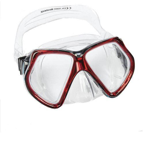 Маска для плавания Bestway 22016, размер L (14+), обхват головы ≈ 54-65 см, красные