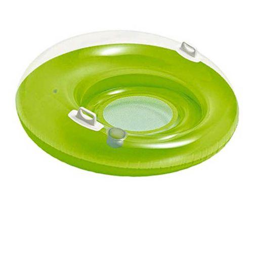 Надувное круг-кресло Intex 58883, с ручками, 119 см, зеленое