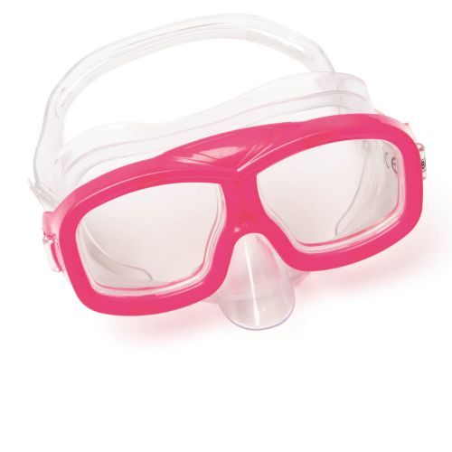 Маска для ныряния Bestway 22055, размер S, (3+), обхват головы ≈ 48-52 см, розовый