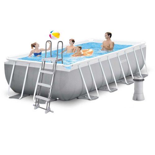 Каркасный бассейн Intex 26790, 400 х 200 х 122 см (2 006 л/ч,  лестница)