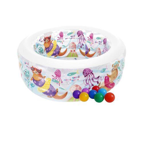 Детский надувной бассейн Intex 58480-1«Аквариум», 152 х 56 см, с шариками 10 шт