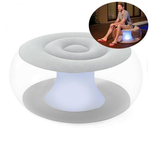 Надувное кресло Bestway 75085, 82 х 82 х 41 см, с LED подсведкой, белое