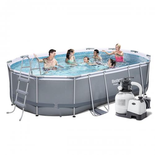 Каркасный бассейн Bestway 56620-6, 424 x 250 x 100 см (6 000 л/ч, лестница, тент, подстилка)