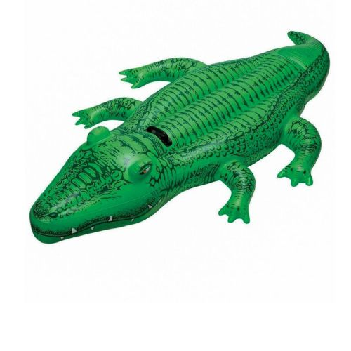 Детский надувной плотик для катания Intex 58546 «Крокодил», 168 х 86 см