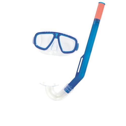 Набор 2 в 1 для ныряния Bestway 24018 (маска: размер S, (3+), обхват головы ≈ 48-52 см, трубка), синий