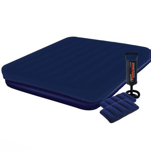 Надувной матрас Pavillo Bestway 67004-3, 183 х 203 х 22 см, с наматрасником-чехом, двумя подушками и ручным насосом. Двухместный