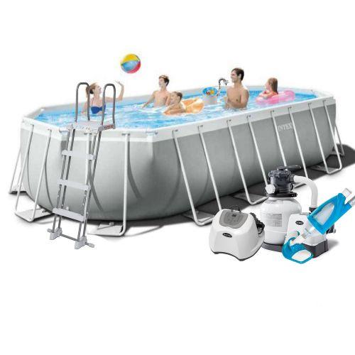 Каркасный бассейн Intex 26798 - 11, 610 x 305 x 122 см (5г/ч, 6 000 л/ч, лестница, тент, подстилка, набор для ухода)