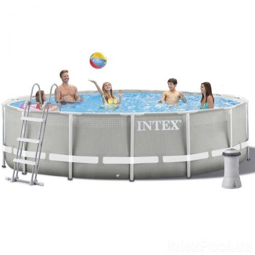Каркасный бассейн Intex 26720, 427 х 107 см (3 785 л/ч, лестница, тент, подстилка)