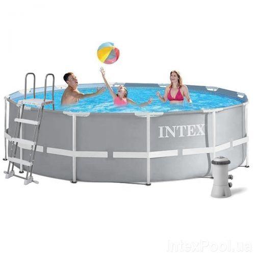 Каркасный бассейн Intex 26718, 366 x 122 см (3 785 л/ч, лестница)
