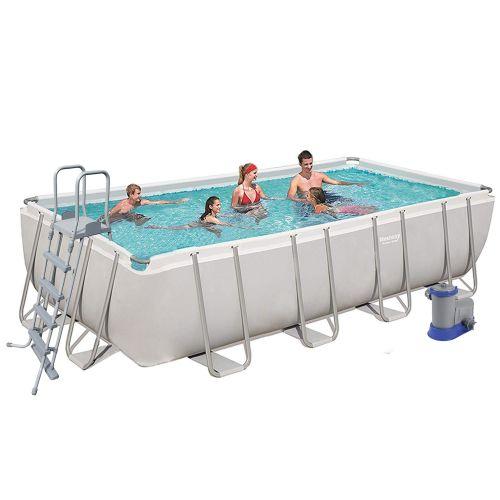 Каркасный бассейн Bestway 56465, 549 х 274 х 122 см (5 678 л/ч, дозатор, лестница, тент, подстилка)