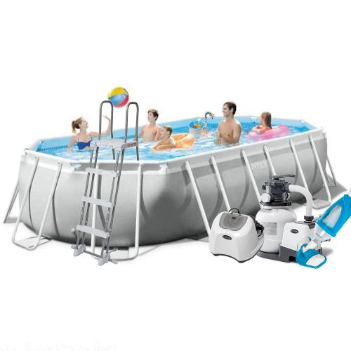 Каркасный бассейн Intex 26796 - 11, 503 x 274 x 122 см (5г/ч, 6 000 л/ч, лестница, тент, подстилка, набор для ухода)