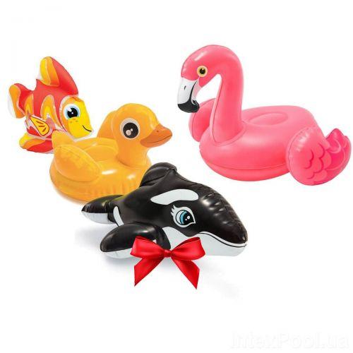 Надувной набор игрушек 4 в 1 Intex 58590-4 «Зверюшки» (Тедди, Дакотта, Вейн, Фламинго)