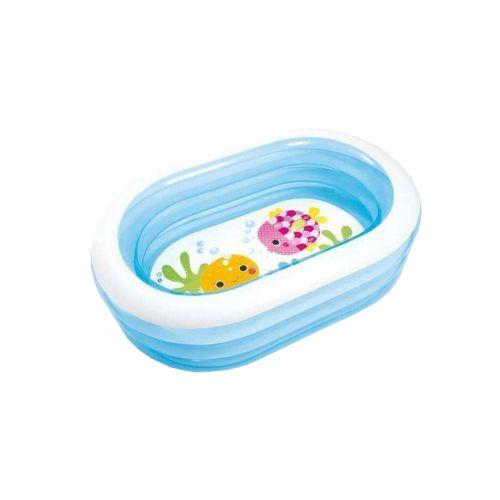 Детский надувной бассейн Intex 57482-1 «Морские друзья», 163 х 107 х 46 см, с шариками 10 шт