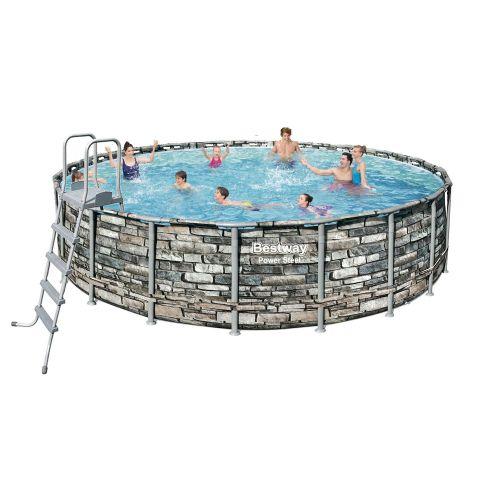 Каркасный бассейн Bestway 56883 - 1, 610 x 132 см (лестница, тент)