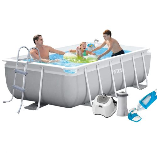 Каркасный бассейн Intex 26784 - 6, 300 х 175 х 80 см, (4 г/ч, 3 785 л/ч, лестница, тент, подстилка, набор для ухода)